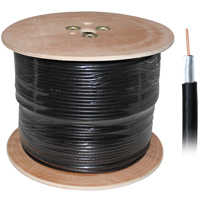 RG-58U Dual Shield Coaxial Cable (AWG-20 Bare Copper) 1000ft Color:Black