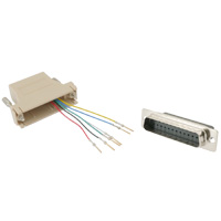 RJ12 to DB25 Male Modular Adapter - Beige