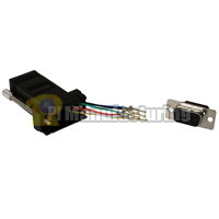 RJ12 to DB9 Male Modular Adapter - Black