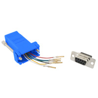 RJ12 to DB9 Female Modular Adapter - Blue