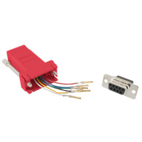 RJ12 to DB9 Female Modular Adapter - Red