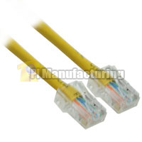 10ft 24AWG Assembly Cat6 Network Cable - Yellow