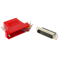 RJ45 to DB25 Male Modular Adapter - Red