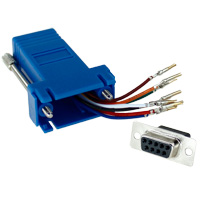 RJ45 to DB9 Female Modular Adapter - Blue