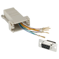 RJ45 to DB9 Female Modular Adapter - Light Grey