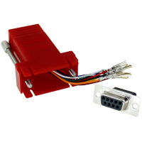 RJ45 to DB9 Female Modular Adapter - Red