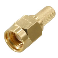 SMA Male Gold Crimping Connector for Cable RG174, RG179, RG316, LMR100
