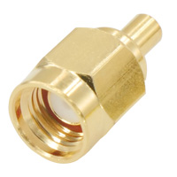 SMA Male Crimping Connector for RG178 Cable, Gold