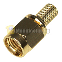 SMA Male Crimping Connector for RG58, RG142, HPF195, LMR200, RG400 Cable, Gold