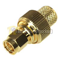 SMA RP Male Crimping Connector for LMR400 Cable, Gold
