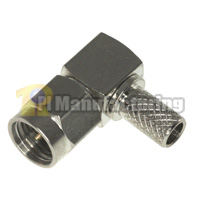 SMA Male Right Angle Crimping Connector for Cable RG58, RG142, HPF195, LMR200, RG400 Cable