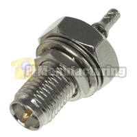 Water Resistant SMA RP Female Bulkhead Crimping Connector for RG178 Cable