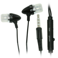 4ft Earphone with In-Line On/Off Microphone Control - Black