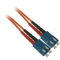 Fiber Optic Cable, SC to SC, Multimode Duplex (62.5/125) - 1 Meter