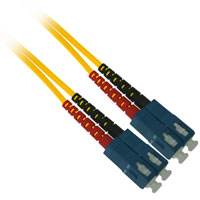 Fiber Optic Cable, SC to SC, Multimode Duplex (62.5/125) - 3 Meter - Yellow