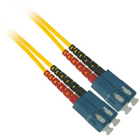 Fiber Optic Cable, SC to SC, Single-mode Duplex (9/125) - 50 Meter