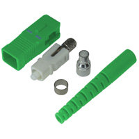 SC Single-mode APC Connector with 3mm Green Boot - Green