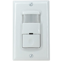 Indoor PIR Motion Occupancy Sensor, Single Pole, 180 Degree Range, 1200 sq.ft, AC120V
