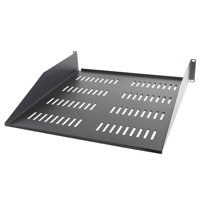 "2U Vented Equipment Shelf for 19 inch Rackmount, Cantilever, 3.5"" x 19"" x 20"""