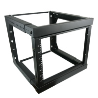 8U Swing-Out Wall Mount Rack Adjustable Depth