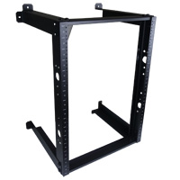 16U Fixed Open Frame Wall Mount Rack