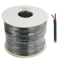 500ft 20AWG Speaker Cable, Black  OD: 6mm