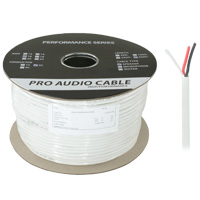 500ft 16AWG 2 Wire CL3 Speaker Wire Cable, Bare Copper (For In-Wall Installations)