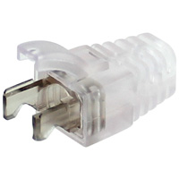 Transparent Strain Relief Boot for Cat6 / Cat6A (2pc Type) Shielded Modular Plug, OD 6.4mm