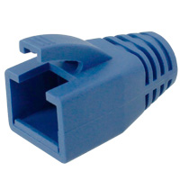 8P8C Strain Relief Boot for Cat6a, OD: 7.6-8.0mm, Blue - 50pcs/pack