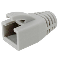 8P8C Strain Relief Boot for Cat6a, OD: 7.6-8.0mm, Gray - 50pcs/pack