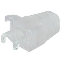 Transparent Strain Relief Boot for Cat5e Modular Plug, OD 6mm - 50pcs/bag
