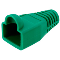 8P8C Strain Relief Boot for Cat6, OD: 6.5mm, Green - 50pcs/pack
