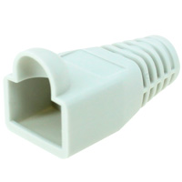 8P8C Strain Relief Boot for Cat6, OD: 6.5mm, Gray - 50pcs/pack