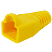 8P8C Strain Relief Boot for Cat6, OD: 6.5mm, Yellow - 50pcs/pack