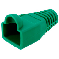 8P8C Strain Relief Boot for Cat5e, OD: 6mm, Green - 50pcs/pack