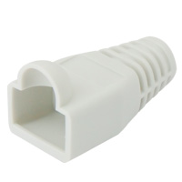 8P8C Strain Relief Boot for Cat5e, OD: 6mm, Gray - 50pcs/pack
