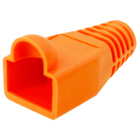 8p8c Strain Relief Boot for Cat5e, OD: 6mm, Orange - 50pcs/pack