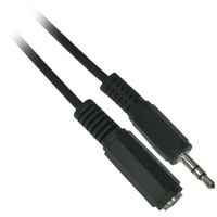 6ft 3.5mm (1/8 inch) TRS Stereo Male to Female Extension Cable