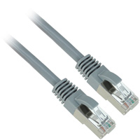 26AWG STP (U/FTP) Cat6a Network Cable - Gray