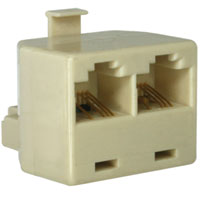 Ethernet 10BT Splitter Male to 2 x Female