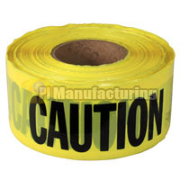 Caution Barricade Tape PE without Glue, 50 micron Thickness x 76mm x 1000ft