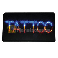 Tattoo Shop Window Store Display LED Sign 22x13x1.6inch