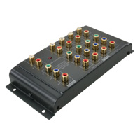 4 Port Audio Video Distribution Amplifier, Component Video, RCA Stereo Audio