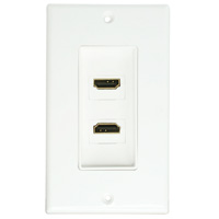 Dual HDMI Decora Wall Plate w/ 90 Degree coupler