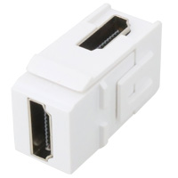 HDMI Coupler Keystone, 90 Degrees Female to Female for P-KS Wall Plate Series