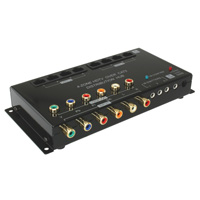 HDTV Component RCA and Digital Audio Cat5 Distribution Box, 4 Zones