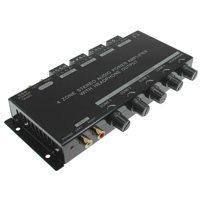 4 Zone Stereo Audio Power Amplifier with Headphone Output, 15W Per Channel