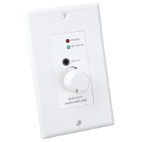 In-Wall Plate Stereo Audio Amplifier with Bluetooth Receiver, 3.5mm Input, and Volume Control