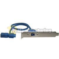 USB 3.0 20-Pin Motherboard Header Female to USB 3.0 B Female w/ Bracket 20 inch Cable