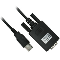 6ft USB Male to RS232 DB9 Male Serial Cable - Black